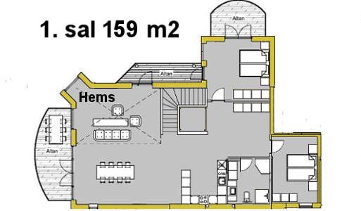 Hals Strand Ferielejligheder 167 m2
